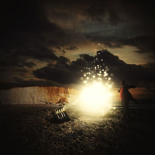 Art Photoshop Surrealism Digital Art Surreal Photomanipulation Photo Manipulation Graphic Design Light Light Bulb