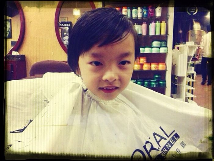 Start schooling next week ... JQ's new look :)