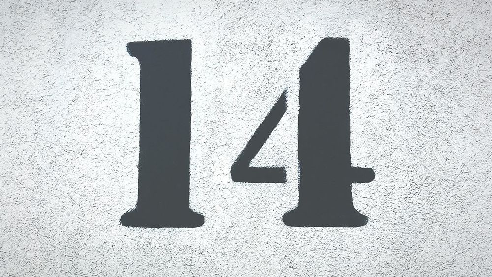 14 14 Wall Number First Eyeem Photo Black Number Technics One Background Love ♥ Four School