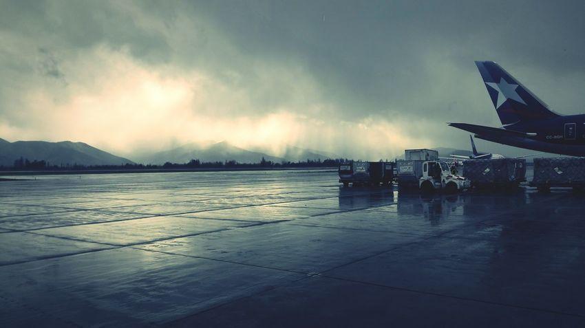 Airport LatAm Pudahuel Plane