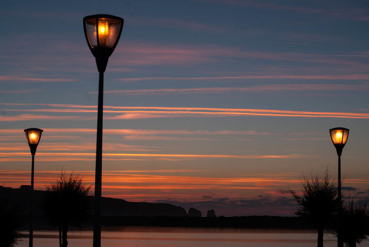 Grated Sky Lights Torches Lamppost Sunset The Night
