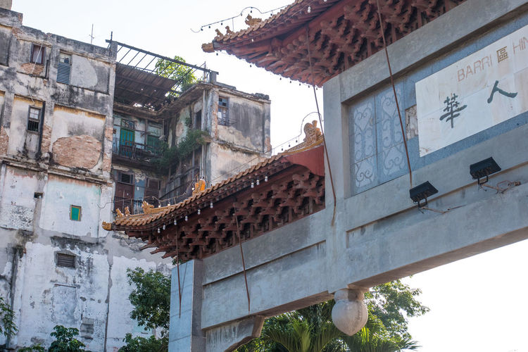 China Town Cuba Havana Arch Architecture Building Exterior Built Structure Day Low Angle View No People Outdoors Roof Traditional Building