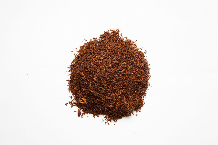 Diffuse Drink Food Healthy Heap Lifestyles Loose Natural Organic Pile Rooibos Tea Tea White Background