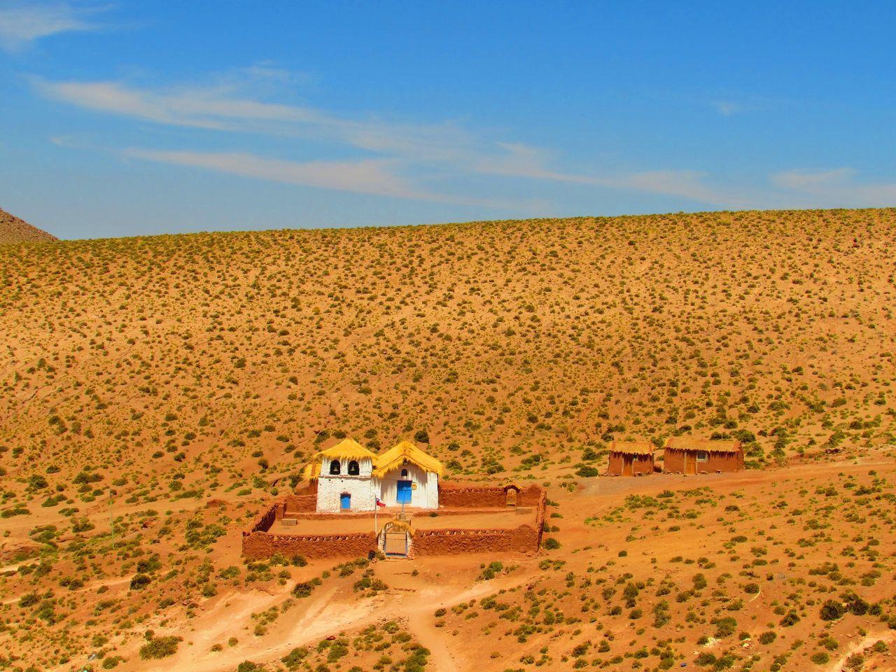 Built Structure On Barren Landscape