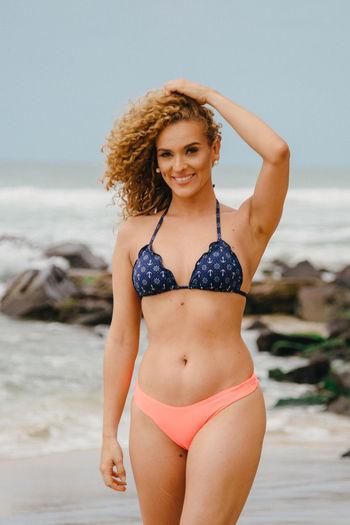Portrait of beautiful woman on beach