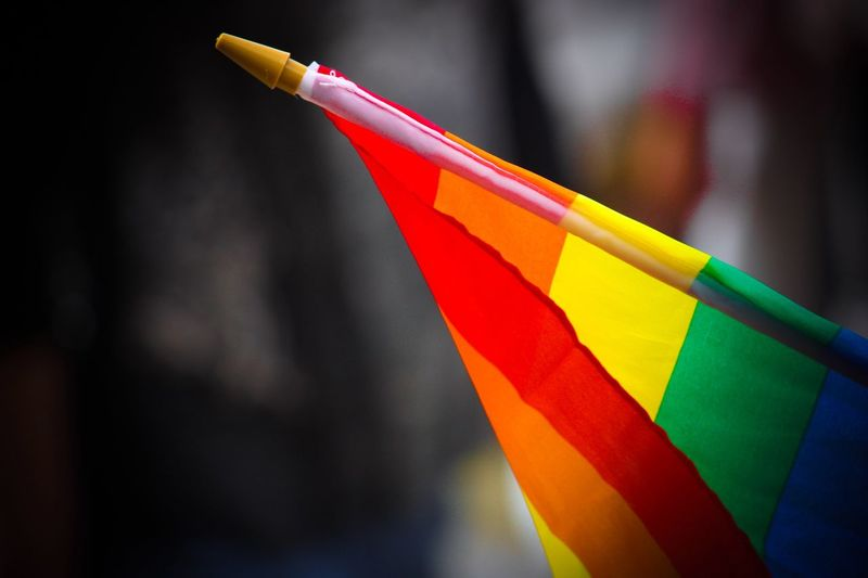 Close-up of colorful flag