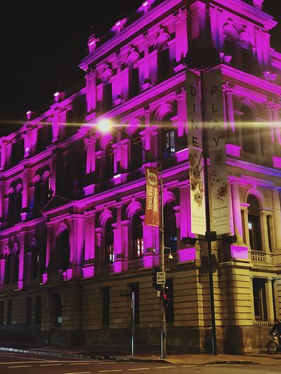 Always Bet on black Treasury Casino Casino Night Night Built Structure Building Exterior Architecture Illuminated Decoration Lighting Equipment Low Angle View Nature Celebration Purple Pink Color Building Street Light - Natural Phenomenon City No People Outdoors