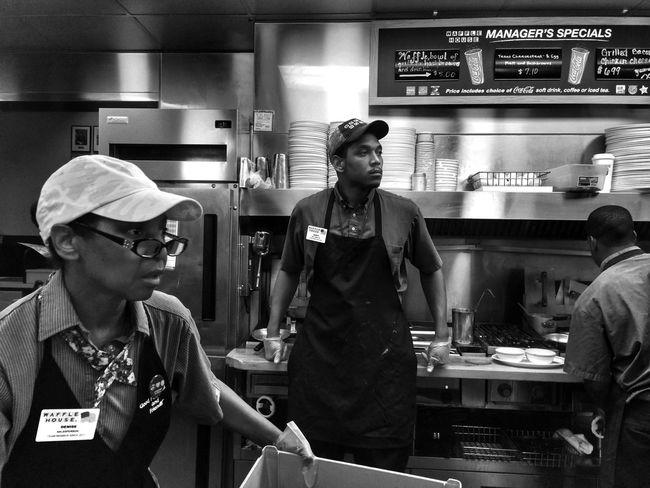 Blackandwhite Waffle House Midtown Atlanta