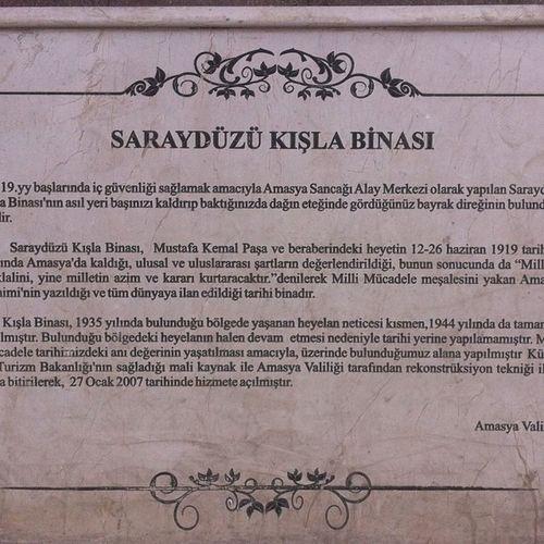 Amasya Sarayduzukisla Kisla Sarayduzu ataturk turkiye muze museum heykel mka travel gezi architech mimari karadeniz turkey