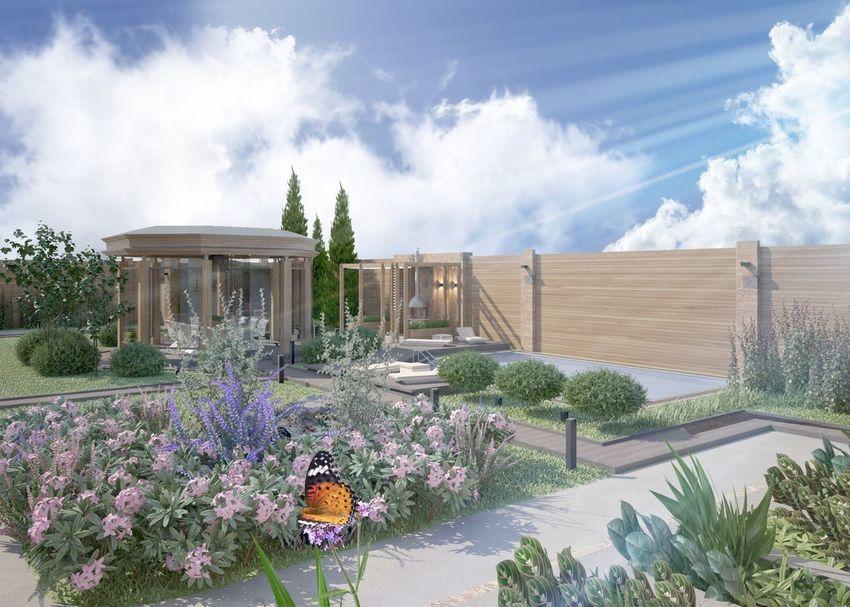 Image дизайн 3d Flauers landscape design