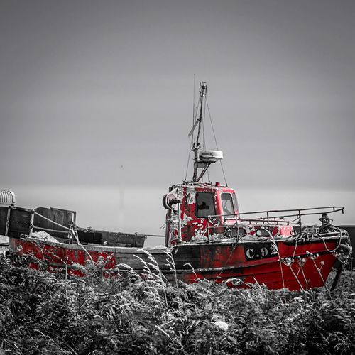 Ireland Black & White Shades Of Grey Colour Splash Great Outdoors Old Boat Walking Around Kilmore Quay