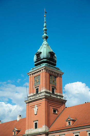 Poland Travel Travel Photography Warsaw Architecture Belief Blue Building Building Exterior Built Structure Clock Cloud - Sky Day History Low Angle View Nature No People Outdoors Place Of Worship Religion Sky Spire  Spirituality Tower Travel Destinations