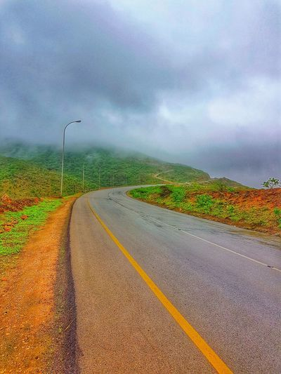 Cloud - Sky Landscape Outdoors Oman Salalah 🇴🇲 Roadtrip Beauty In Nature Beauty In Nature Beautifuldestinations BBCTravel Natgeotravel S7 Edge Photography Mobilephotography Road Storm Cloud Nature Sky Day No People