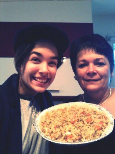 pâté de millet avec sa mère