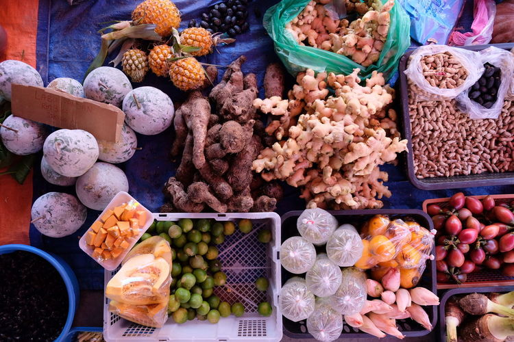 Malaysia arket Abundance Arrangement Business Choice Collection Day Food Food And Drink For Sale Freshness Fruit Healthy Eating High Angle View Large Group Of Objects Market Market Stall No People Outdoors Retail  Retail Display Small Business Variation Wellbeing