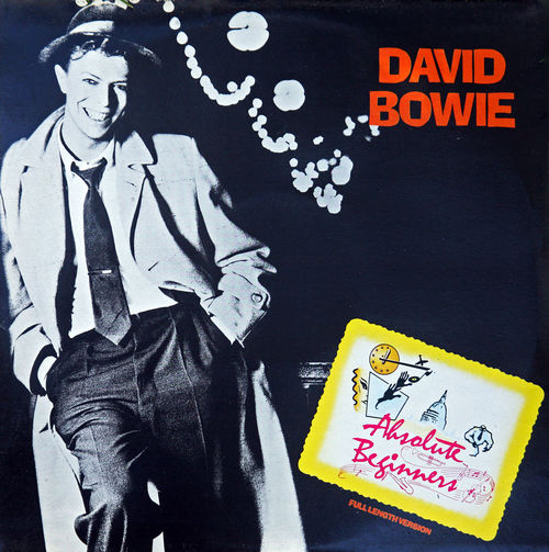 David Bowie:Absolute Begginers,cover,maxi single,1986. 1986. Absolute Begginers Author Charts Cover David Bowie Famous Gramophone Record Hit Maxi Single Music Musician Player Singer  World Famous