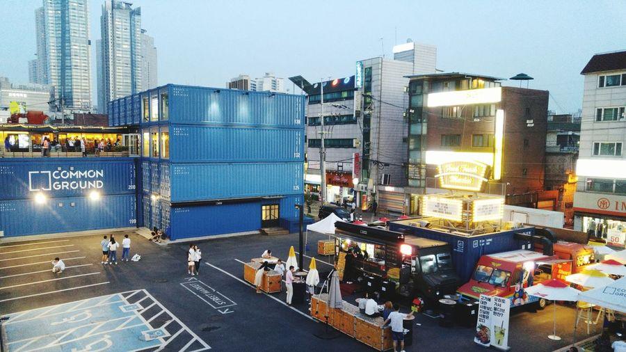The containers Commonground Seoulatnight