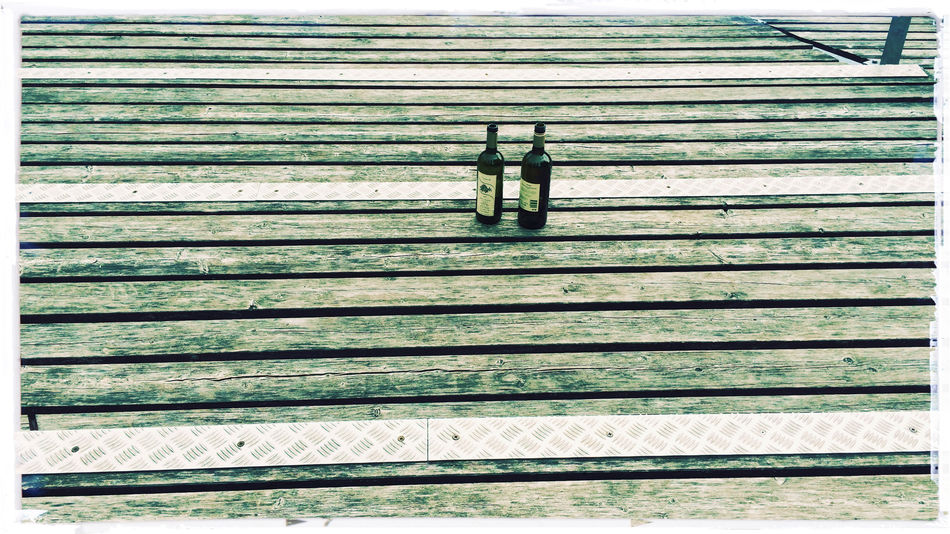 Bottle Bottles Horizontal Symmetry Morning After Wood Wood - Material Wooden Horizontal Lines