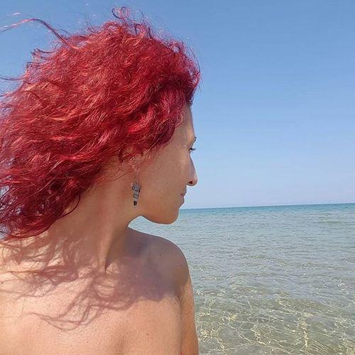 Angolo di Puglia Mareadriatico Estate2015 Sole Sun Beach Sea Provinciadifoggia Seasideitaly Seaside Mare RedHAIR ❤ Red Hair Selfies Redhead Redhair Redismycolor Haircolor Haircolour Selfie ✌