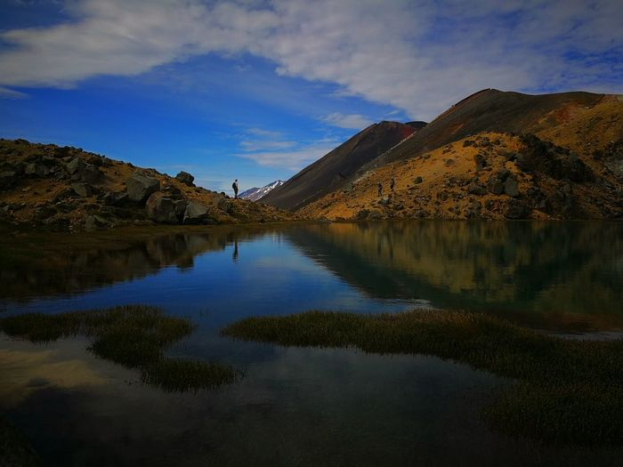 Reflection Autumn Scenics Mountain Landscape Sky Rock - Object Lake Hiking Outdoors Travel Destinations Mountain Range Beauty In Nature Water