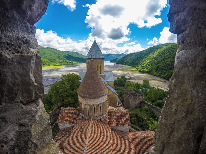 Travel Gopro Old Buildings Church Georgia Georgia Tbilisi Clouds And Sky Nature Window Window View