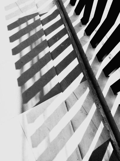Minimalist Photography  Blackandwhite Photography Stripes Pattern Light And Shadow Outdoor Photography Art Abstract Photography Ideas For Summer. Conceptual Photography  Fence Photography Graphic_arts_bnw Illuminated Illusions Copy Space Repeating Patterns Elementi Architettonici Vanishing Point Flat