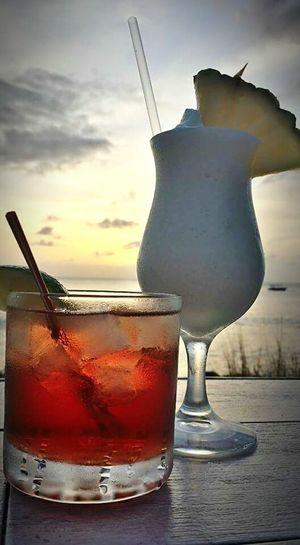 Drinks At Sunset Drinks Sunset Coastline Beautiful FEELING RELAXED Vodka Time!! Vodka Cranberry