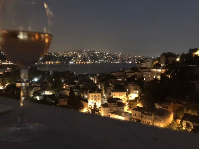 Istanbul Arnavutkoy Longexposure Bosphorus Illuminated Building Exterior City Architecture Built Structure Night Cityscape No People Sky Wineglass Glass Nature Wine Drink Building Food And Drink Alcohol Residential District Outdoors Refreshment