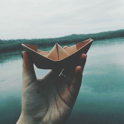 #hands #water #paper #ship #nopeople #Nature  First Eyeem Photo