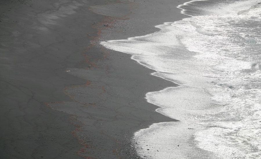 Sand Beach Shore Sea Wave Shadow Day