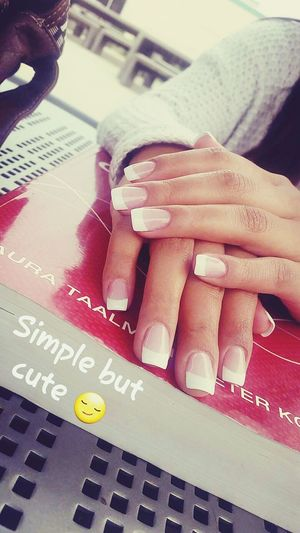Nails French Tip Nails Simplebutcute