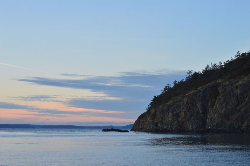 Sunset_collection PNW Anacortes Beach Outdoors Scenics No People Sunset Landscape Beauty In Nature Nature Blue Cloud - Sky Travel Destinations Water Sky Mountain