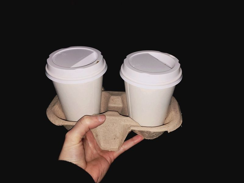 Hand Take Away Coffee - Drink Coffee Human Hand Human Body Part Holding One Person Drink People Only Women Black Background Close-up Day Freshness