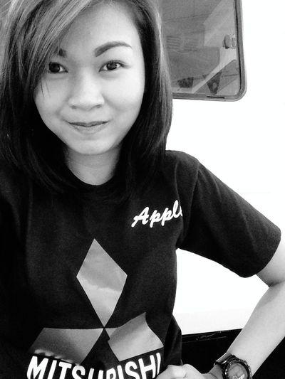 Hi, my name is Apple 😜 Weekend Duty Mitsubishi Mitsugirl IPhoneography Eyeem Philippines