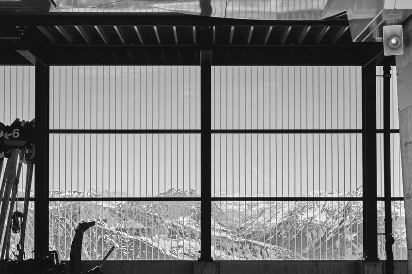 Architecture Building Exterior Built Structure Day Lines And Shapes Mountains No People Outdoors Snow Window Winter