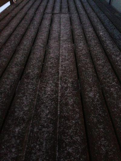 Ice frozen wooden panel
