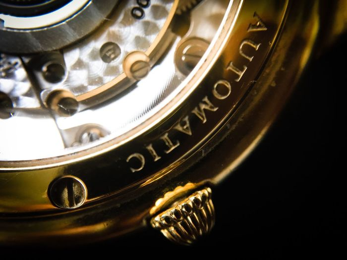 Close-up of antique watch