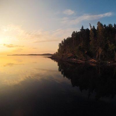 Little Herman's island at dawn. PrincesInlet Lunenburg VisitNovaScotia Igersottawa gopro