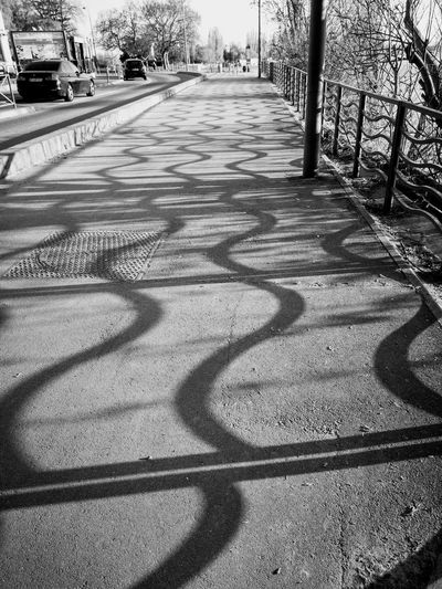 Sunlight, Shades And Shadows Shadows Fence Shadows Of Fences Sunlight Focus On Shadow