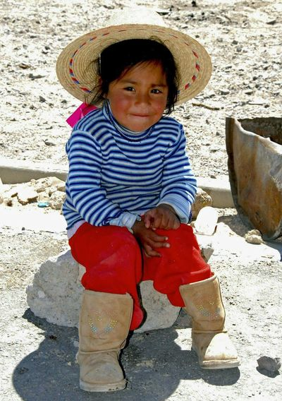 Childhood One Person Full Length Casual Clothing People Child Sand Cute Day Babies Only Outdoors Chile Colchane Happiness Smiling Portrait