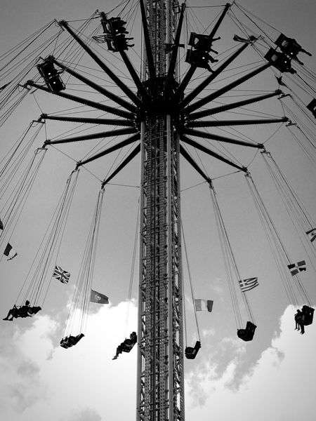 Amusement Park Arts Culture And Entertainment Amusement Park Ride Sitting Outdoors Moment Blackandwhite Quiet Moments Blackandwhite Photography Large Group Of People Themepark HaveFun Eyeemphotography From My Point Of View Todayphotography Blackandwhitephotography Freedom Art Photography Flying Clouds And Sky Motion Eye4photography  Beautifulview Eye4photography  EyeEmBestPics Art Is Everywhere