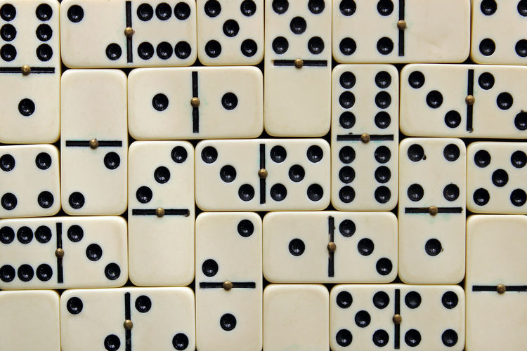 Full frame shot of dominoes