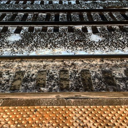 Railroad Track Station Textures And Surfaces Abstract Abstract Photography Color Cold
