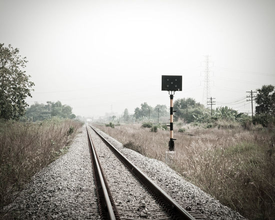 Day Nature No People Outdoors Rail Transportation Railroad Track Sky The Way Forward Train Ride Train Station Transportation Tree