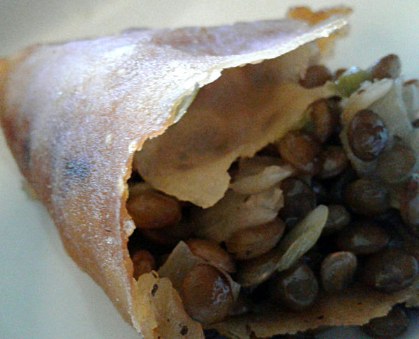 Ethiopian food. A close-up of lentils in a flaky pastry. Close-up Day Ethiopian Food Ethnic Food Food Food And Drink Freshness Healthy Eating Indoors  Lentils Lunch No People Pastry Ready-to-eat Sambosa