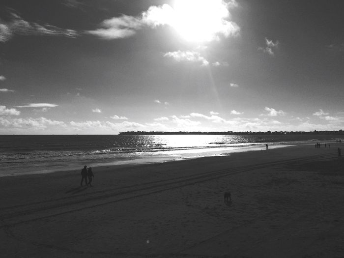 Beautiful Landscape Sea Beach Beachphotography Life Is A Beach Hello World Hanging Out Holidays La Baule LaBaule France Blackandwhite Black And White