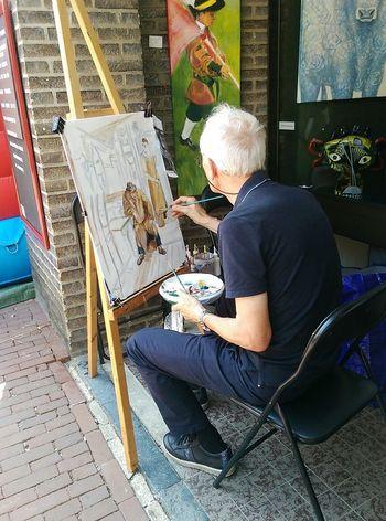Art Studio Outdoor Painting Sitting Working Art Studio Artist Brush Paint Creativity Creating