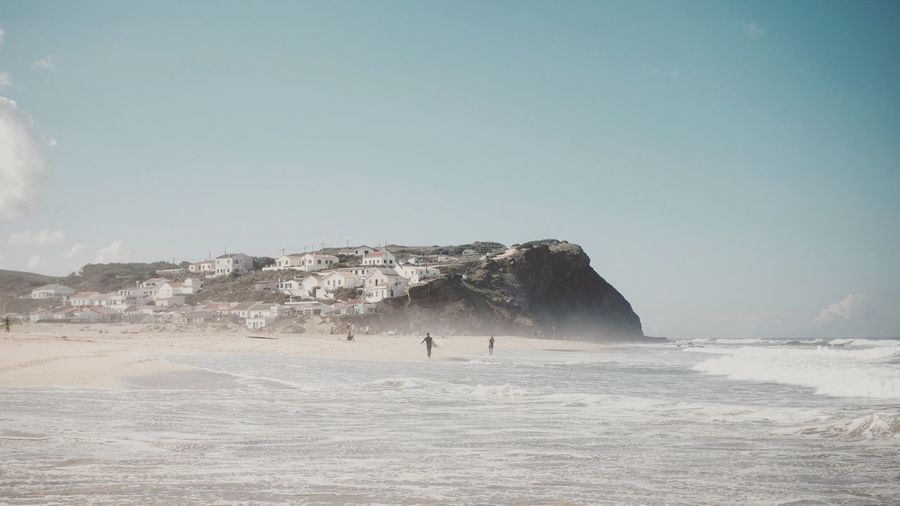 Portugal Sky Land Water Nature Scenics - Nature Day Sand Tranquility No People Clear Sky Outdoors Non-urban Scene Beauty In Nature Sea Landscape
