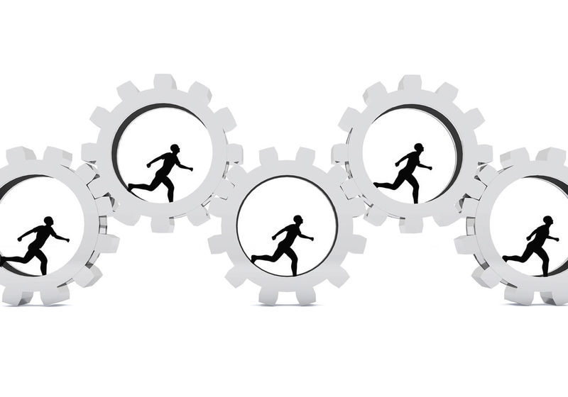 3D illustration of humans running within a cog, concept for working in a team 3D 3d Rendering Business Co-operation Cog Wheel Cold Temperature Colors Communication Connection Ethics Human Body Part Human Representation Illustration Machine Machinery People Running Team Teamwork Theme Time Together Togetherness White Background Work