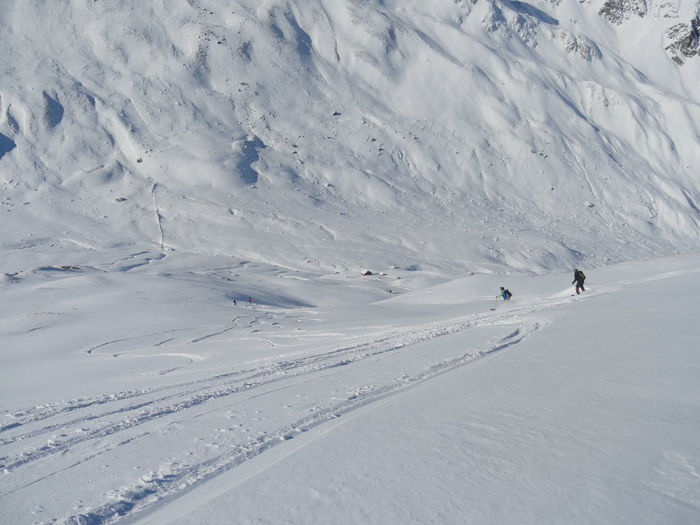 Skiing On Snow Landscape